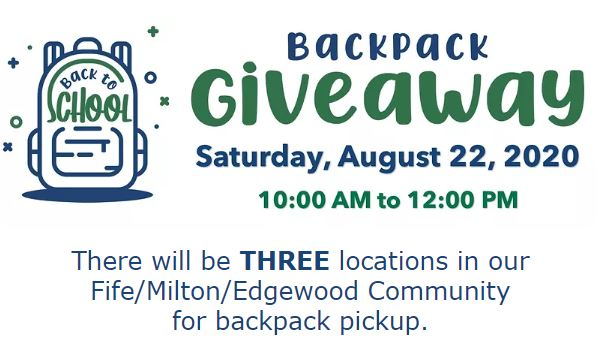 school backpacks giveaway with Mountain View community Center