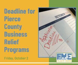 deadline for business relief programs