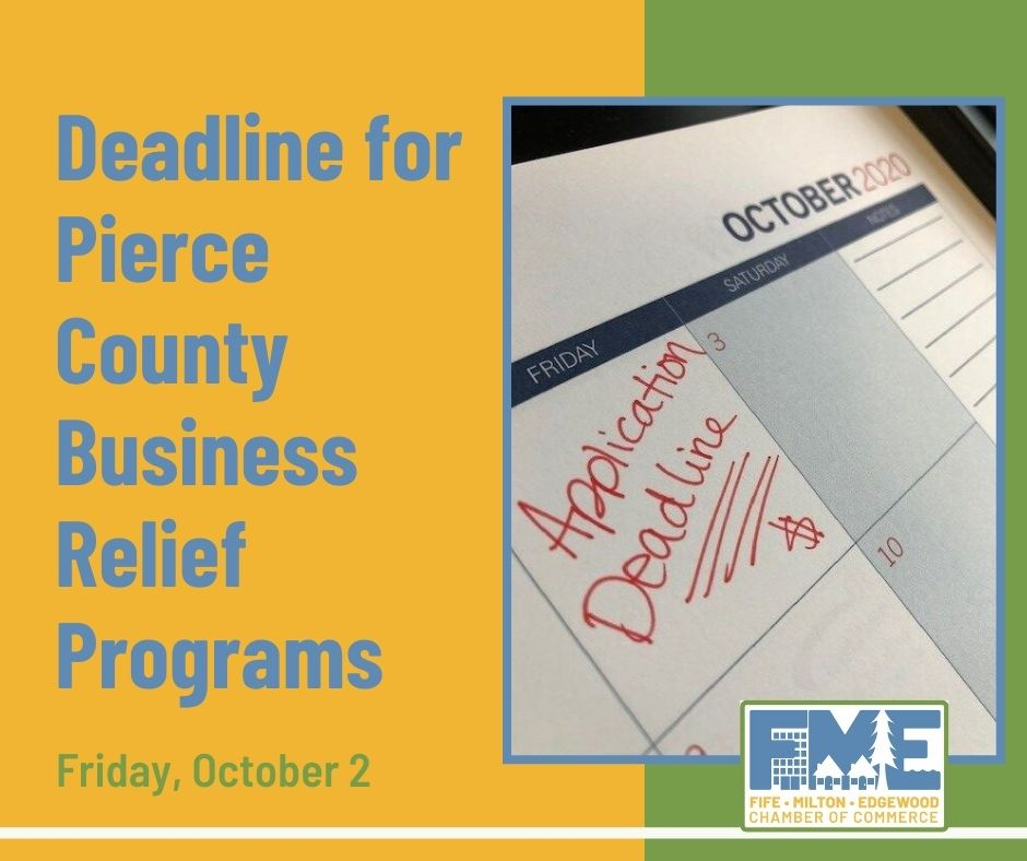 deadline for business relief programs