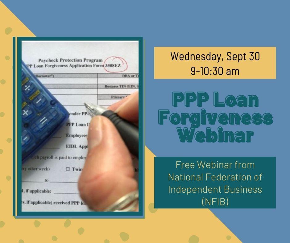 PPP forgiveness application webinar