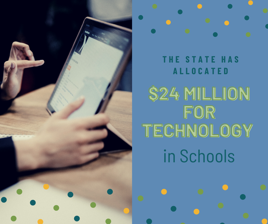 $24 million CARES funding for technology in education