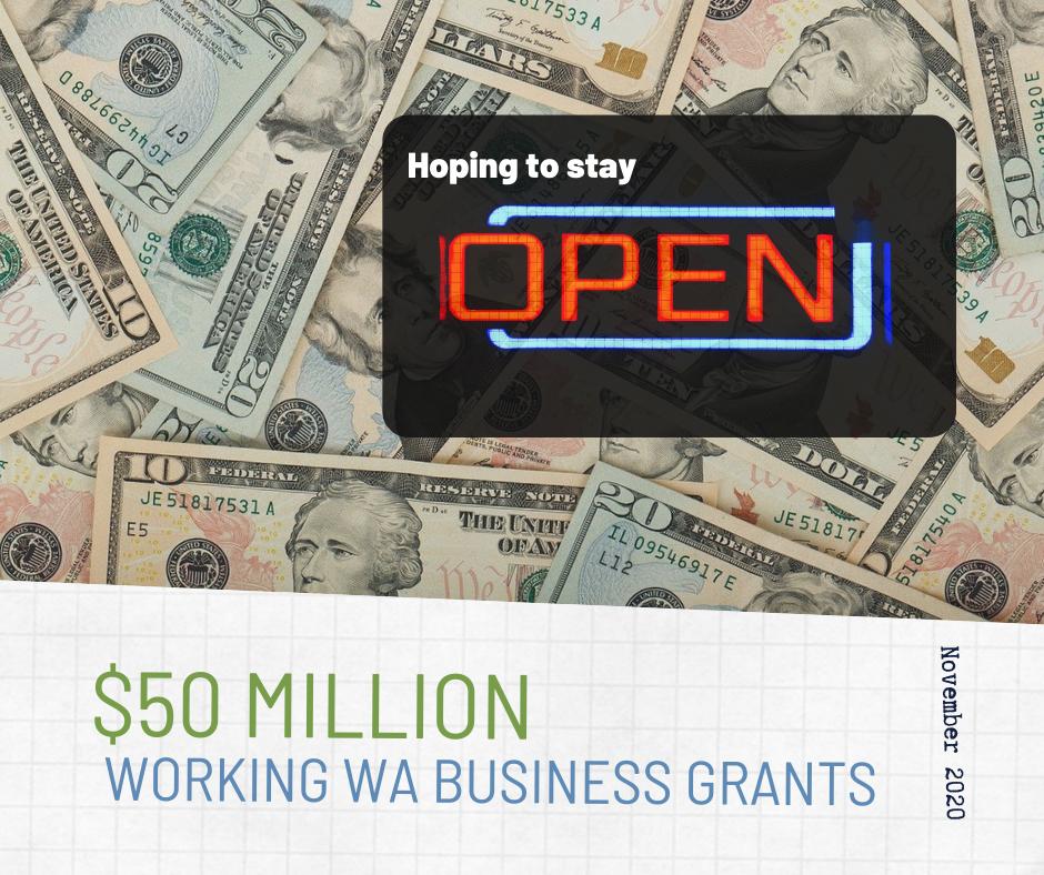 $50 million Working washington businesss grants
