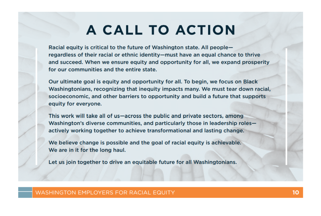 Commitment from Washington Employers for Racial Equity