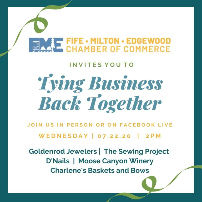 Ribbon tying celebrates the reopening of several Edgewood Businesses.