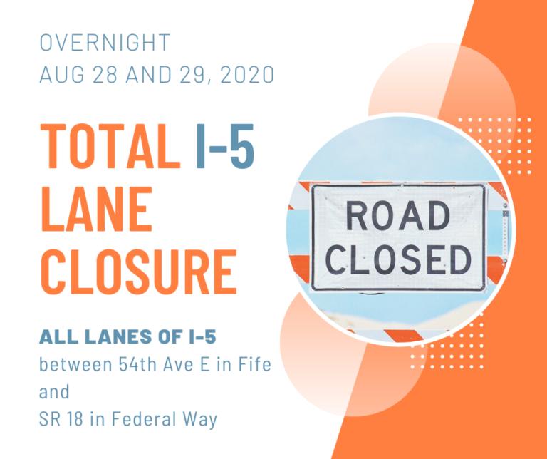 I-5 lane closure in Fife